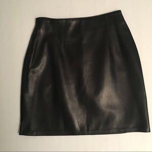 ANN TAYLOR A-Line Leather Skirt